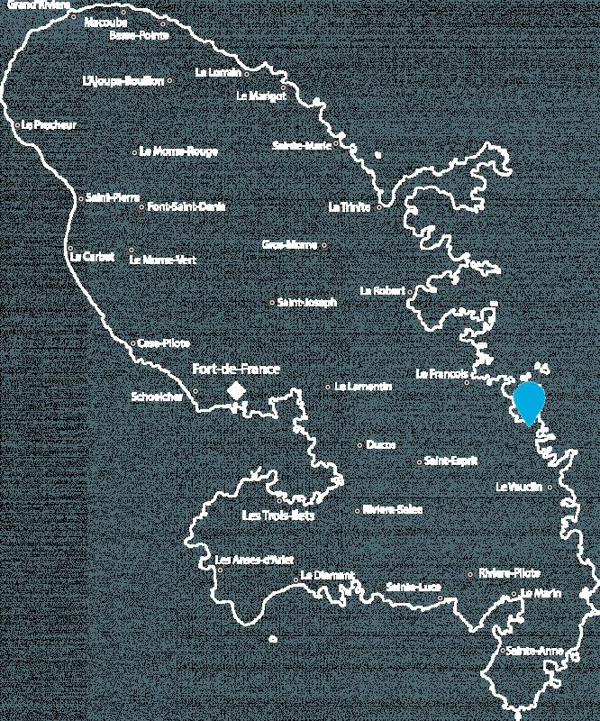 Les Hauts du Cap - Map